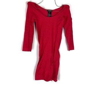 Bebe Pink Spandex Body Con Dress Size Small GUC